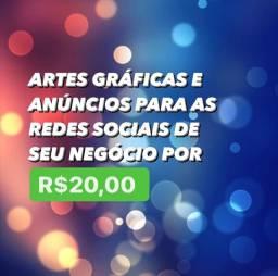 Título do anúncio: Artes digitais para seu negócio!