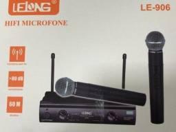 microfone duplo sem fio profissional - lelong