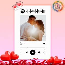 Presente Quadro spotify com musica e foto personalizado dia dos namorados - decoração