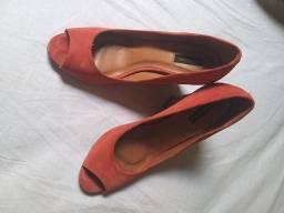 Título do anúncio: Sapato salto peeptoo número 36