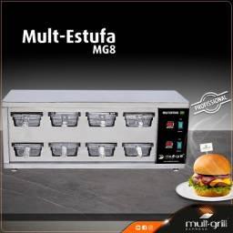 Estufa de Hambúrguer - MG8 Profissional da Mult-Grill Express do Brasil®?