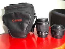 Câmera cânon T5i + 2 lentes 18-55 mm e 50mm