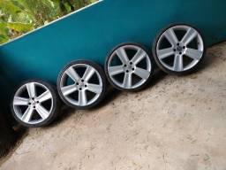 Rodas 18 saveiro cross pneus bons barato de mais venha conferir
