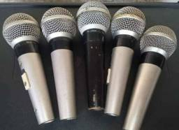 Kit com 5.microfones semi novos