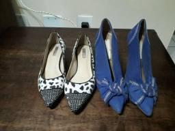 Lote: 2 sapatos numeração  35.