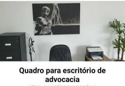 Vendo quadro em canva da Deusa da justiça, para escritório de advocacia