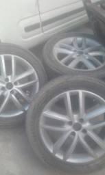 Jogo de rodas aro 17 225/50R pneus firestone