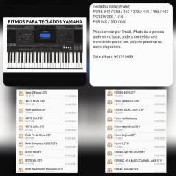 100 Ritmos p/ Teclado Yamaha Linha PSR E, PSR EW e PSR 540/550/640