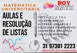 Título do anúncio: servico de resolucao de listas de calculo, edo, gaal, algebra e outras