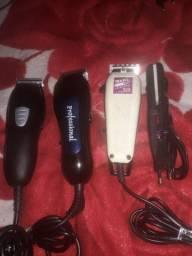 Vendo 3 maquinas de cortar cabelo e uma mini chapinha