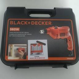 Furadeira de Impacto Black Decker 3/8 110V 560W + Jogo com 09 Brocas Lacrada