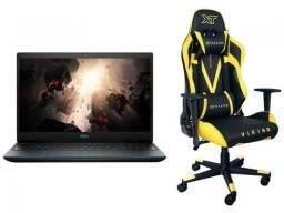 notebook dell-linha gamer-core i7 c cadeira gamer-novo garantia 1 ano