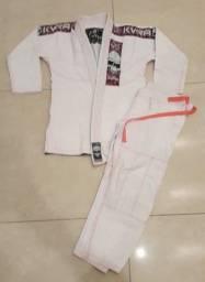 Kimono kvra feminino F2 branco e rosa