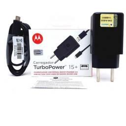 Carregador Motorola Moto Turbo Power (preto) Anatel