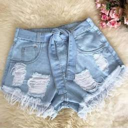 shorts jans feminino cintura alta