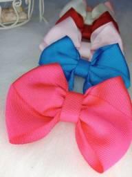 Kit de 6 faixas de cabelo meia de seda Infantil para bebê menina