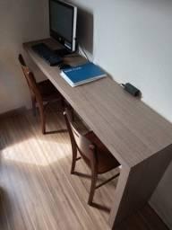 Mesa Home Office Escrivaninha Aparador Suspenso