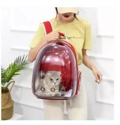 Mochila Para transporte de Animais Transparente tipo Astronauta Visão Passeio