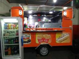 Trailer Pronta Entrega Food Truck Hot Dog Lanches 3x2m Emplacado Documentado