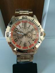 4cb8edd86d3 Relógio Dourado Masculino