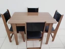 Conjunto de Mesa Sonetto Nicoli 110x68 cm com 4 Cadeiras