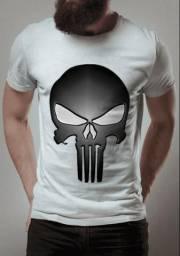 Camisa o justiceiro branca / marca montink