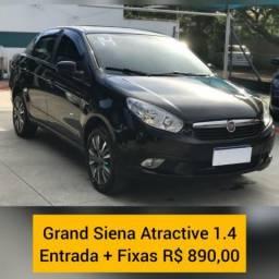Fiat grand siena 2014 1.4 mpi attractive 8v flex 4p manual - 2014