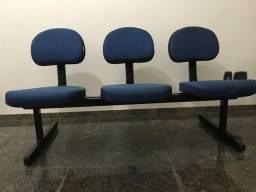 Cadeira longarina 3 lugares jurkoflex
