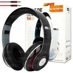 Fone De Ouvido Bluetooth Entrada Sd, Rádio Fm - Tm-10