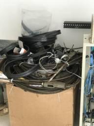 Motor, caixa e fios de Elevador