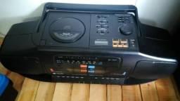 Radio gravador modelo five star, funciona radio e fita K7
