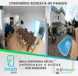 Condomínio Reserva do Parque, 4 suítes, 2 semi suítes (semi mobiliada)