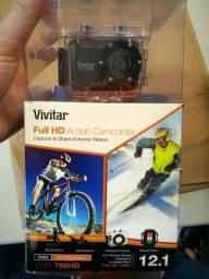 Câmera Filmadora de Ação Full HD a Prova D'agua