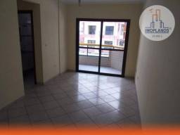 Apartamento com 2 dormitórios para alugar, 70 m² por R$ 1.600,00/mês - Tupi - Praia Grande