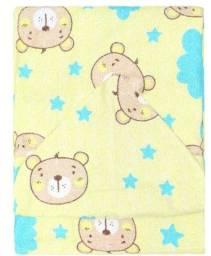 Kit 2 toalhas de banho para bebê com capuz e forro