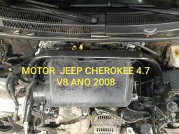 Motor Cherokee 4.7 V8 parcial c baixa