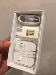 Original kit caixa cabo adaptador e fone originais iphone se (funciona em todos iphones)