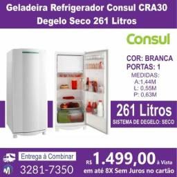 Geladeira Refrigerador Consul CRA30 Degelo Seco 261 Litros