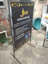 Placa Propaganda Cavalete Calçada - Bar - Restaurante
