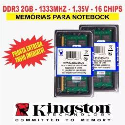 Memória Kingston Ddr3 2gb Notebook