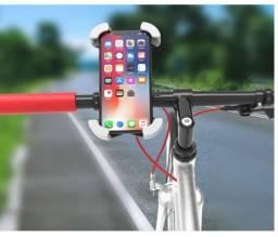 Suporte Celular Bike Motos Universal Guidão Gps Smartphone Trilha Até 6,7''