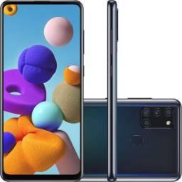 "Samsung Galaxy A21s 64GB Dual Chip Android 10 Tela 6.5"" Octa-Core 4G Câmera 48MP - Preto"