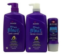 Aussie Kit - Shampoo + Cd 865ml + Máscara Moist