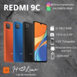 Celular Xiaomi Redmi 9C - 32Gb/2GbRam Global+Pelicula (Azul e Preto)