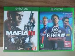 Vendo Mafia 3 e Fifa 19 por R$60,00 os dois jogos