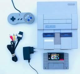 Super Nintendo + Mario (5 jogos) - Parcelo Cartão