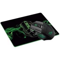 Mouse + Mousepad Gamer Warrior Multilaser 3200 Dpi 7 Botoes