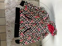 Pijama veludo florido