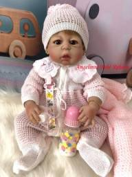 Título do anúncio: Boneca Bebê Reborn promoção de natal! boneca de Silicone Pronto Envio! Com Enxoval