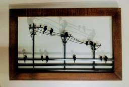 Quadro de parede passarinho